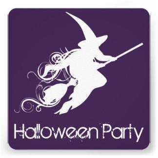 Convite de festas do Dia das Bruxas da silhueta da