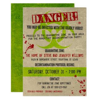 Convite de festas do Dia das Bruxas do Biohazard