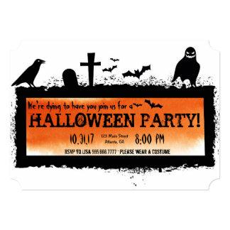 Convite de festas do Dia das Bruxas do cemitério
