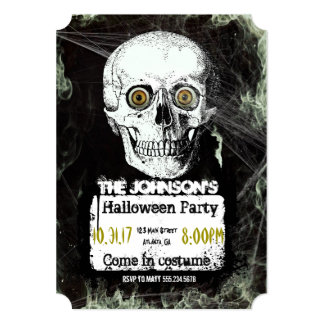 Convite de festas do Dia das Bruxas do crânio