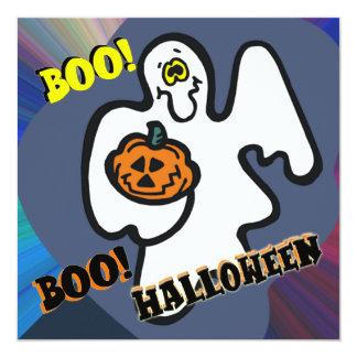Convite de festas do Dia das Bruxas do fantasma da