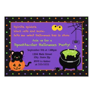Convite de festas do Dia das Bruxas do miúdo