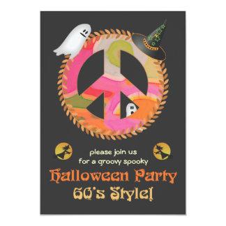 convite de festas do Dia das Bruxas do tema dos