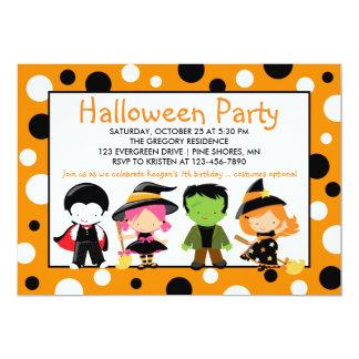 Convite de festas do Dia das Bruxas do traje