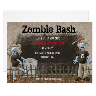 Convite de festas do Dia das Bruxas do zombi
