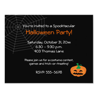 Convite de festas do Dia das Bruxas Jackolantern