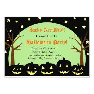 Convite de festas do Dia das Bruxas - os jaques