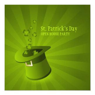 Convite de festas do dia de Patrick de santo