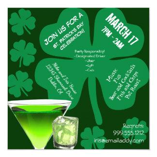 Convite de festas do dia de St Patrick