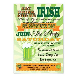 Convite de festas do dia de St Patrick do estilo