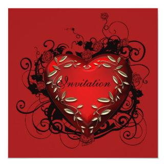 Convite de festas do dia dos namorados do coração