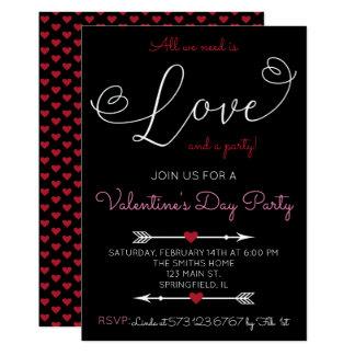 Convite de festas do dia dos namorados do roteiro