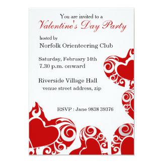 Convite de festas do dia dos namorados dos convite 12.7 x 17.78cm