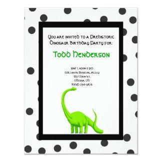 Convite de festas do dinossauro