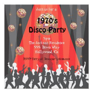 convite de festas do disco dos anos 70