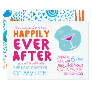 Convite de festas do divórcio