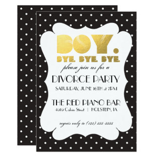 Convite de festas do divórcio - adeus do menino