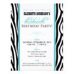 Convite de festas do doce 13 do impressão da zebra