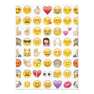 convite de festas do emoji