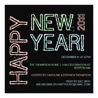Convite de festas do feliz ano novo