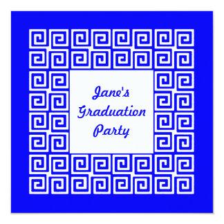 Convite de festas do formando da chave dos azuis