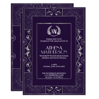 Convite de festas do formando - estilo clássico de