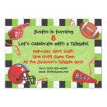 Convite de festas do futebol