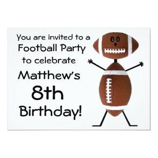 Convite de festas do futebol do aniversário