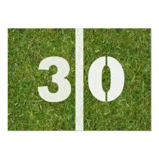 Convite de festas do futebol do aniversário de 30