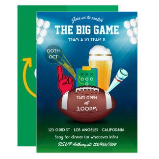 Convite de festas do futebol do dia do grande jogo