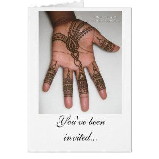 Convite de festas do Henna