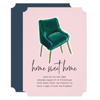 Convite de festas do Housewarming da cadeira | do