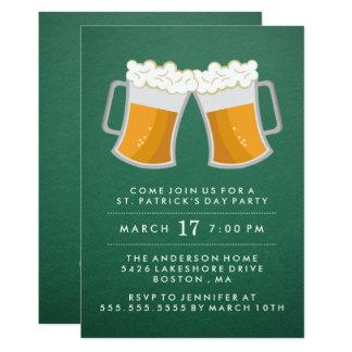 Convite de festas do irlandês do dia de St Patrick