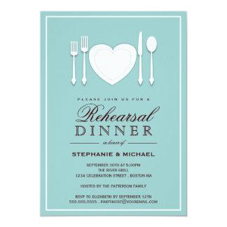 Convite de festas do jantar de ensaio do ajuste de