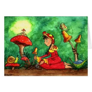 Convite de festas do jardim do cogumelo