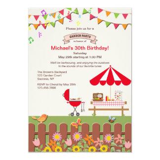 Convite de festas do jardim do quintal