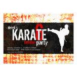 Convite de festas do karaté