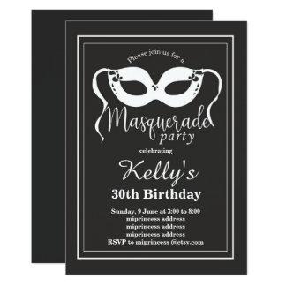 Convite de festas do MASCARADA