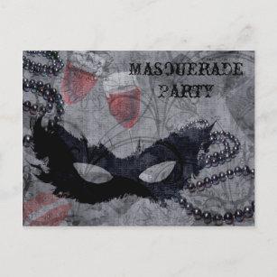 Convite de festas do mascarada da fantasia