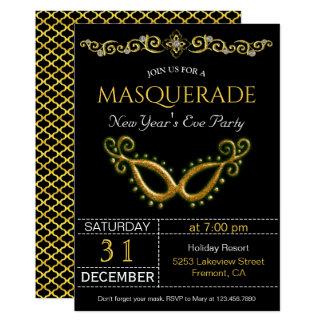 Convite de festas do mascarada da véspera de Ano