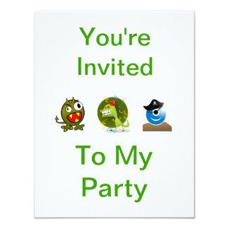 Convite de festas do monstro