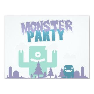 Convite de festas do monstro!