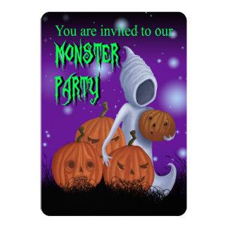 Convite de festas do monstro do Dia das Bruxas