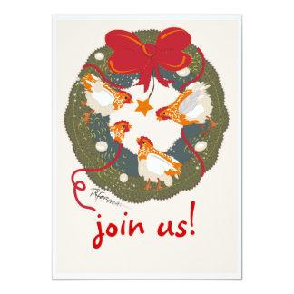 Convite de festas do Natal (galinha)