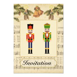 Convite de festas do natal vintage com Natal