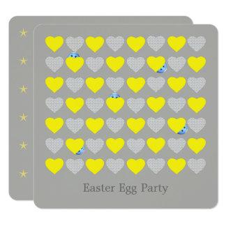 Convite de festas do ovo da páscoa
