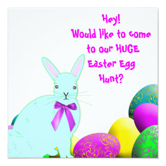 Convite de festas do ovo da páscoa Hunt/or
