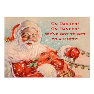 Convite de festas do passeio do trenó de Santa