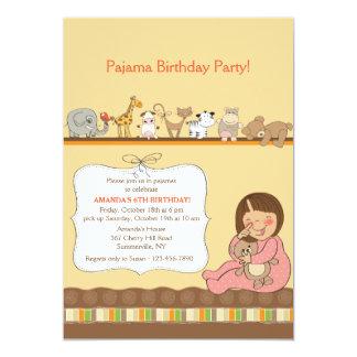 Convite de festas do pijama