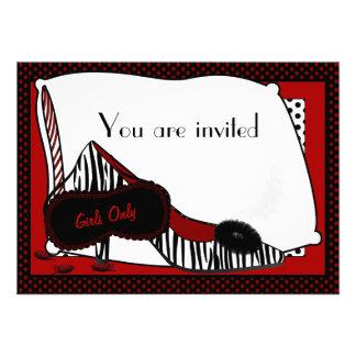 Convite de festas do pijama de Bachelorette
